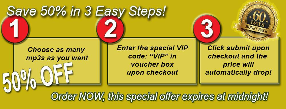 VIP 50 percent discount